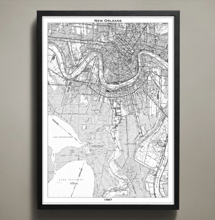 Map Print NEW ORLEANS 37 best City