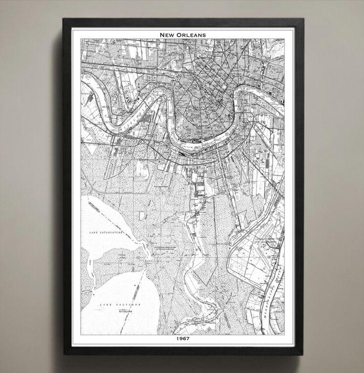 Map Print NEW ORLEANS 37 best City