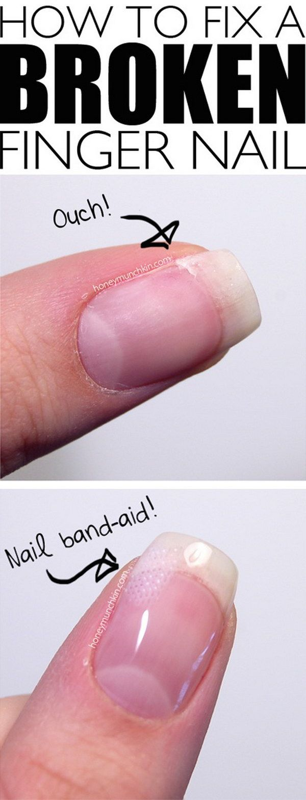 How to Fix a Broken Finger Nail.