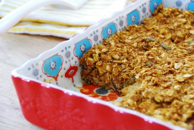 Pumpkin Pie Baked Oatmeal: Make-ahead and grab and go!