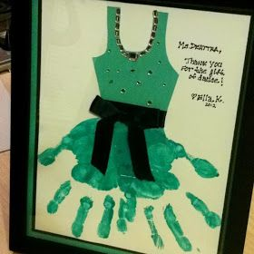 SANDRA M DESIGNS: Hand Print Dance Teacher Gift