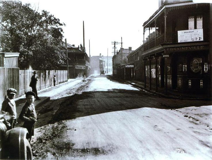 Erskineville Road. NE from near the junction of Erskineville Rd & Septimus St along Erskineville Rd towards Rochford St.  City of Sydney Archives, photo Edda Boyd c.1929
