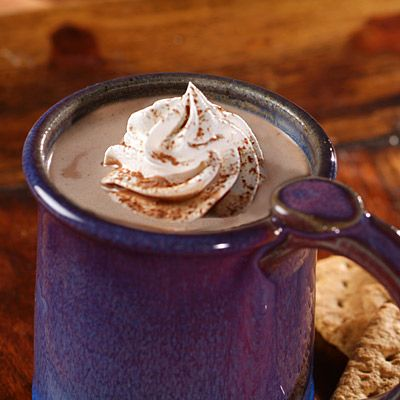 Creamy Hot Cocoa - The best I have made ! I added 2 squares Ghiradelli semi sweet chocolate squares at the end, and made my own whipped cream.  Left out vanilla.