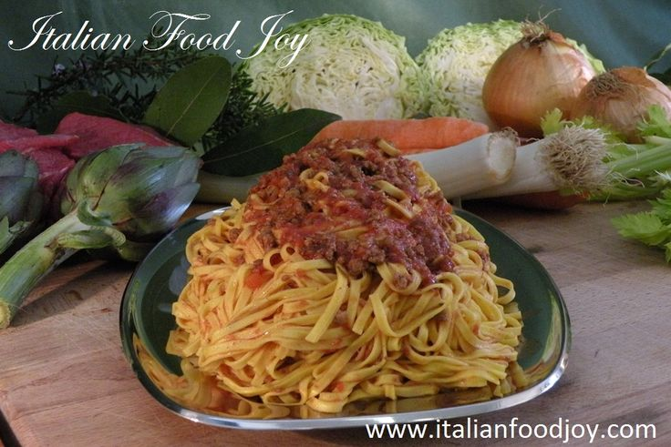 #Tagliatelle  #Ragu #pasta Old #Italian recipe We select for you the best producers. Buy directly from the #producer. www.italianfoodjo... for UK and other countries www.italianfoodjo... for DE and AT only