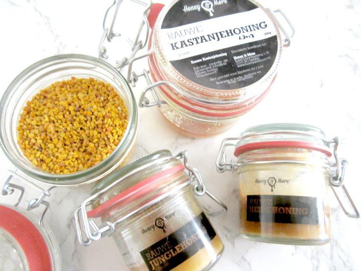 rauwe honing en bijenpollen van honey & more