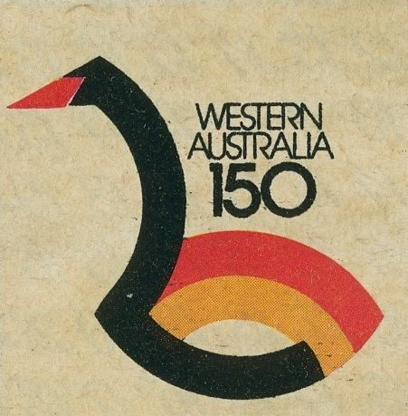 Celebrating 150 Years of Perth: I remember this logo so well. Perth is situated on the Swan River, so called because of the large number of black swans floating around upon it when the first settlers got here. My Nan had a t-shirt with this logo on it. I so coveted it. I don't know why. I was only 6 at the time. http://en.wikipedia.org/wiki/WAY_'79