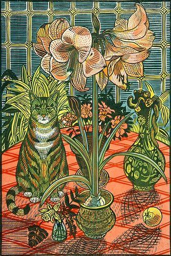 For Arts Sake | Print Making : Amaryllis by Richard Bawden