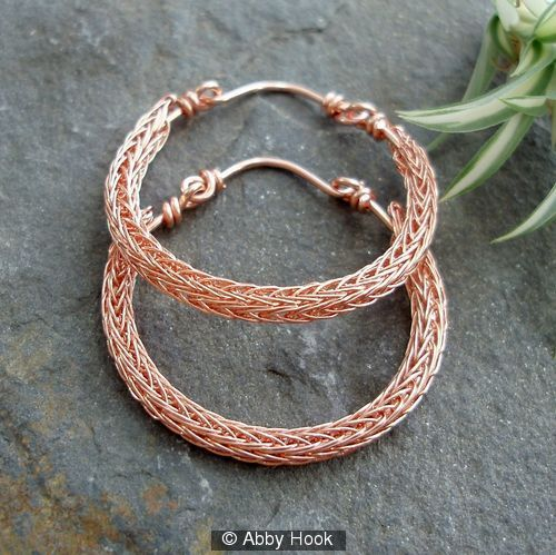 Another Abby Hook original, Viking Knit Hoop Earrings. Stunning!   Lots of neat jewelry inspiration on this website!