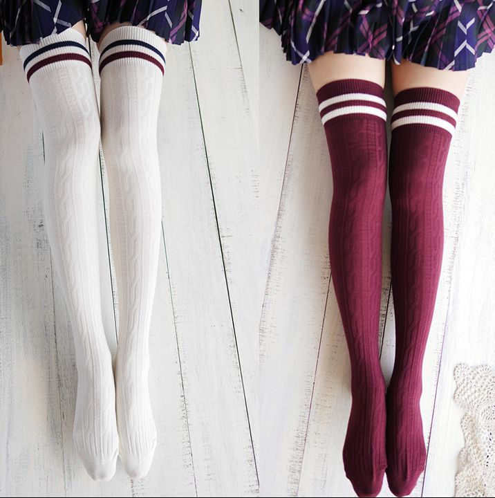 Harajuku institute wind Knee-high socks