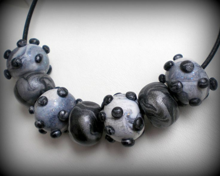 polymer clay necklace!!