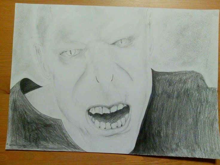 The Dark Lord Voldemort pencil drawing