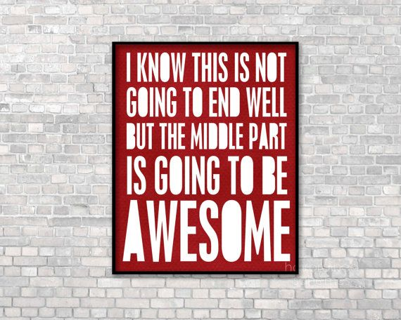 Awesome Typographic Print Funny Typography by hairbrainedschemes