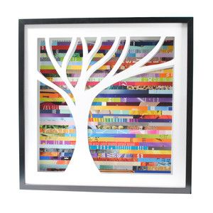 Bright Tree Shadowbox Large now featured on Fab. - Great idea for a student art/design project to show depth, silhouette, pattern, etc!!