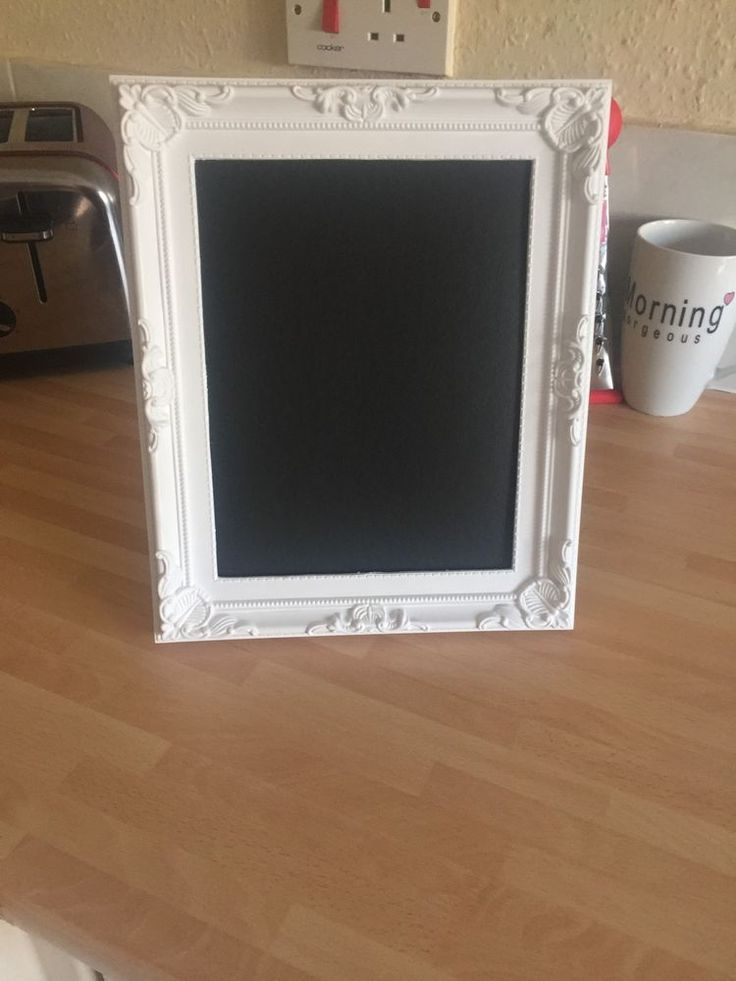 Handmade Vintage Shabby Chic Chalkboard Frame Size A4 Table Setting Home Decor