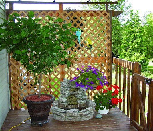 Privacy Ideas For Backyard Decks: 1000+ Ideas About Lattice Wall On Pinterest