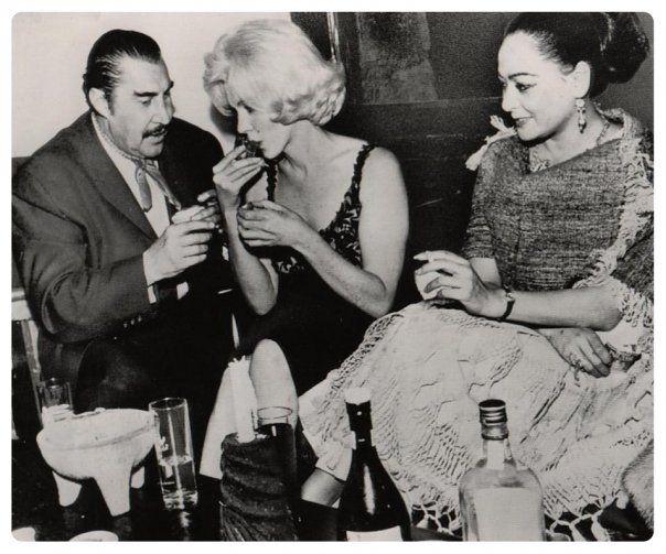 febrero de 1962 del encuentro entre marilyn y el indio