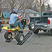 96″ Black Widow Aluminum Folding Dual Off-Road ATV Loading Ramps