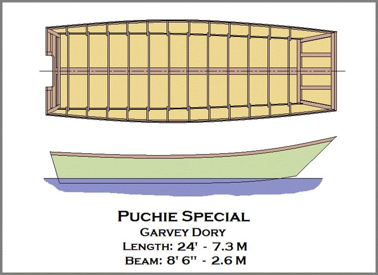Puchie Special Garvey Dory | boat plans | Pinterest