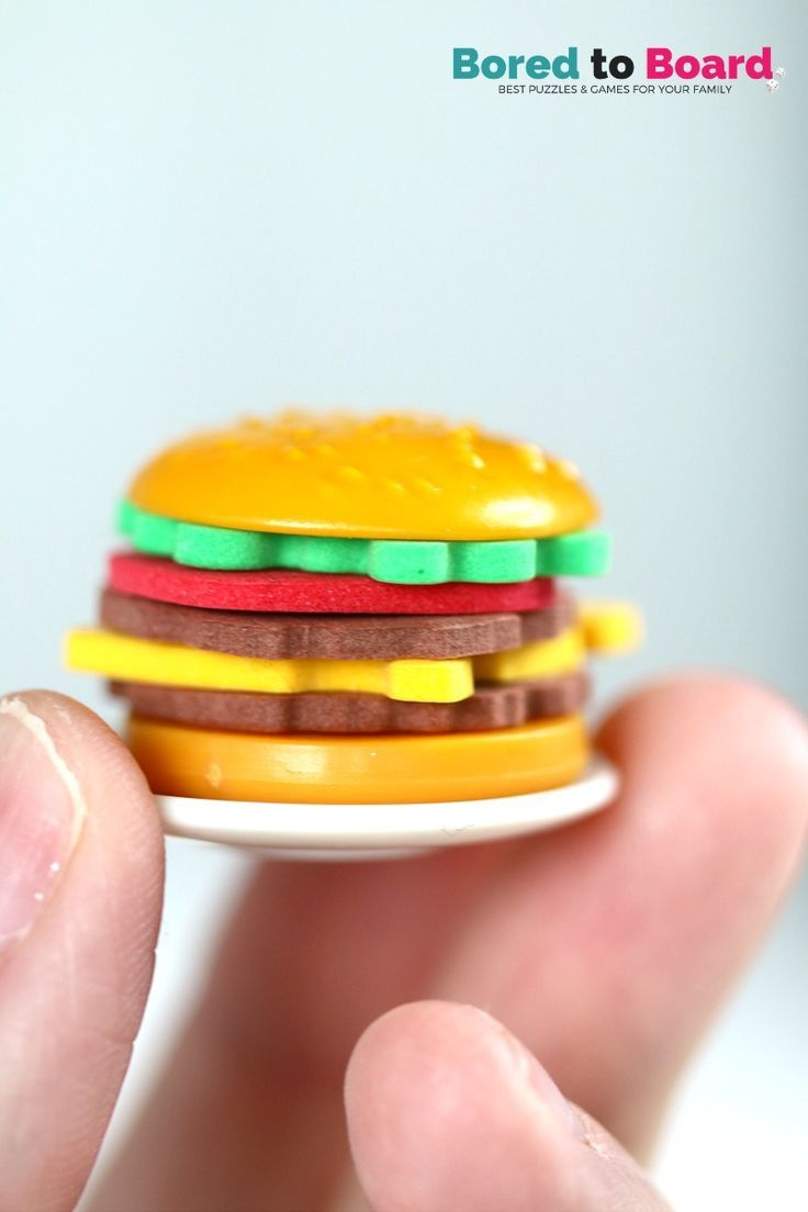 Burger Mania Board Game is an awesome and fun family game, using speed and skill, who can make the most burgers? See our family board game review