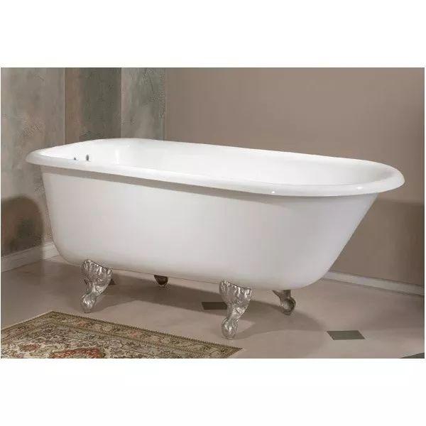 cheviot 54 inch cast iron classic clawfoot tub 338 inch wall