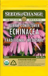 Seeds of Change, ECHINACEA, PURPLE CONEFLOWER by Seeds of Change. $5.45. Hermetically sealed package that is re-sealable gives longer life and higher germination rates. 100-Percent certified organic seeds grown in the USA for over 20-year. Independently tested for high germination rates and purity and meets or exceeds federal standards. Free of GMO's (genetically modified organisms), chemicals and pesticides. Seeds of change contributes 1-percent of net sales to advan...