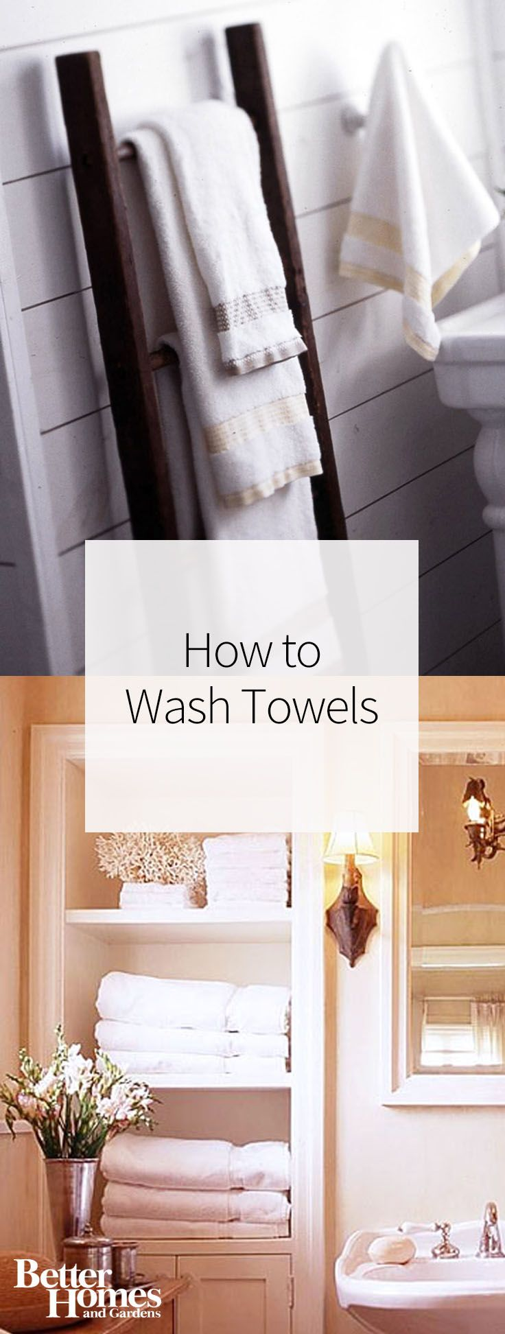 There are many ways to get towels clean, but we're sharing the best way to wash towels with vinegar, detergent, and more. You'll also learn how often to wash towels to keep them clean and ready to use in the bathroom.