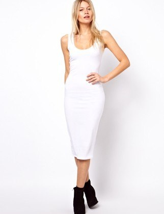 White Dresses in Every Style, Ever, Sleeveless + Mid-length + Tight, $23.93, ASOS.COM