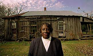 Unita Blackwell born March 18, 1933 in Lula, Mississippi. She was a member of Student Nonviolent Coordinating Committee (SNCC) and participated in the Mississippi Freedom Democratic Party's 1964 challenge at the Democratic National Convention. Mayor Blackwell was the 1st African-American female elected as mayor in Mississippi (town of Mayersville, 1976) and only the 10th African-American Mississippian elected as mayor. She is pictured in front of the home where she grew up.