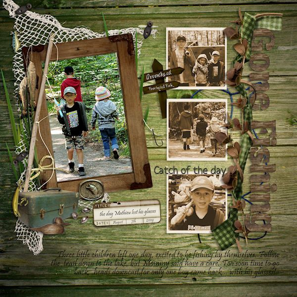 sketch by Amy Edwards<br /><br /><br />~Gone Fishing kit by Creations by Rachel<br /> ~Wood Alpha by Diamante<br /> ~font pristina