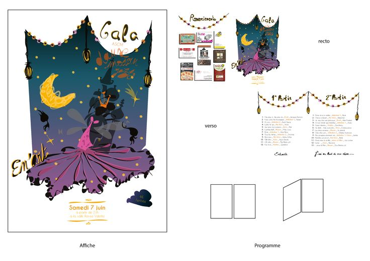 Affiche et Programme - Gala de danse - Rêve - 2014