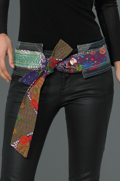 Ubushi belt by Desigual.   patchwork and denim