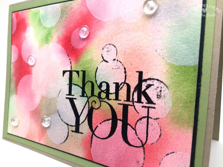 Bokeh-Technik - Dankeskarte - Stempelset Another Thank You