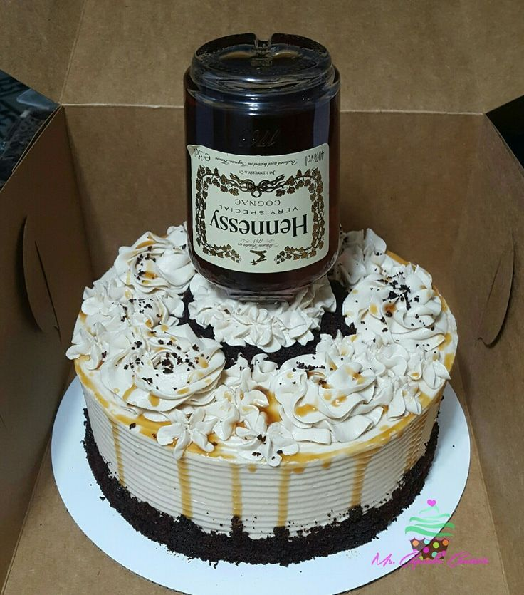Hennessy themed cake
