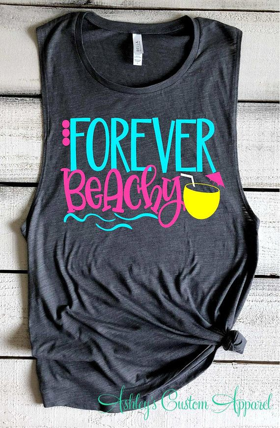 7e910d2a91 Beach Shirts Girls Trip Shirts Swimsuit Coverup Forever Beachy Funny Beach  Tank Top Beach Please Summer Vacation Shirts Funny Beach Cover Up