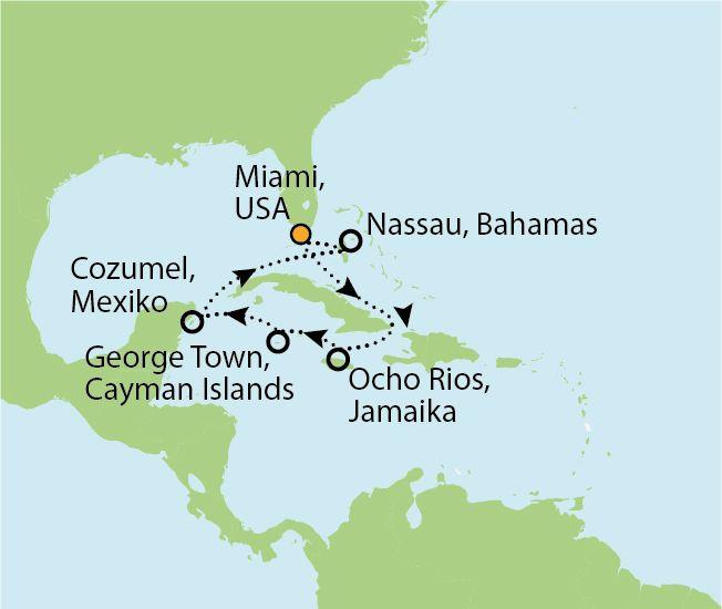Msc Divina Karibikkreuzfahrt Miami Beach