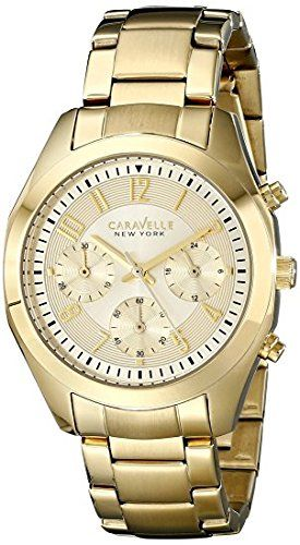 Caravelle New York Women's 44L118 Gold-Tone Stainless Steel Watch #deals