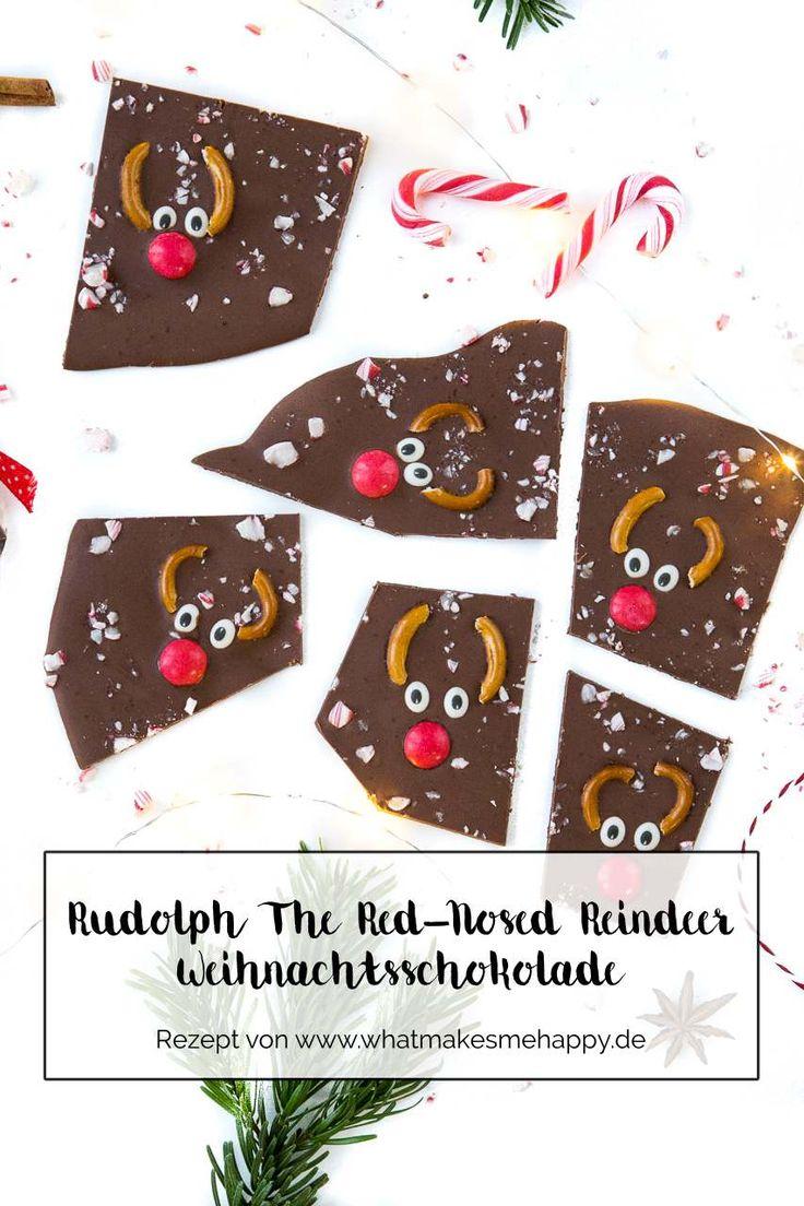 Geschenkidee: DIY Rudolph The Red-Nosed Reindeer Weihnachtsschokolade