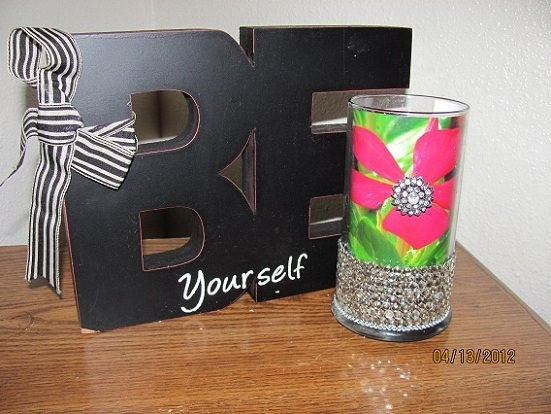 Customize your Diamond Candle jar after you've finished using the candle into a personalized statement for your home. If you've done something interesting with your candle jar share it with us at www.facebook.com/diamondcandles.: Reuse Idea, Favorite Places, Finished Crafts, Diamond Candles, Candles Reuse, Decorating Ideas, Jar Reuse, Craft Ideas, Candle Jars