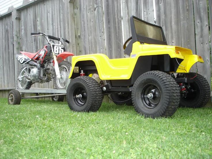 modified power wheels gas powered barbie jeep video