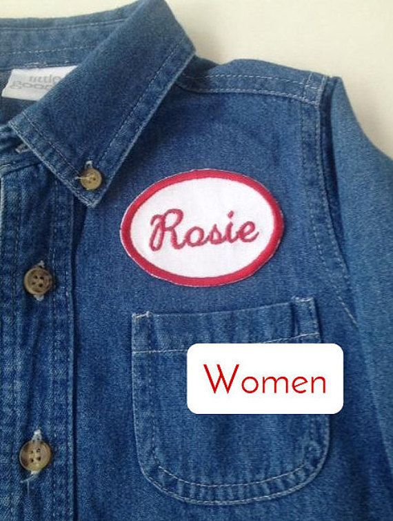 We can do it! Embrace your girl power in this Rosie the Riveter Costume. This iconic wartime costume features a gently reused, button-down shirt,