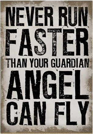Let the wings of an angel guide you through it