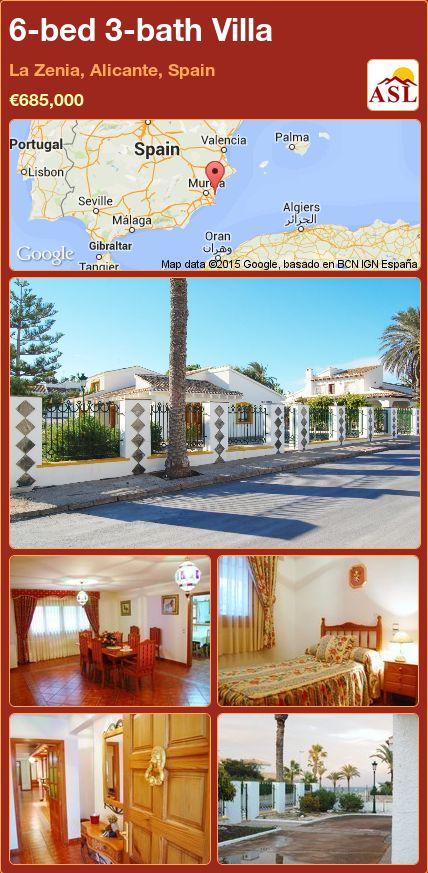 6-bed 3-bath Villa in La Zenia, Alicante, Spain ►€685,000 #PropertyForSaleInSpain