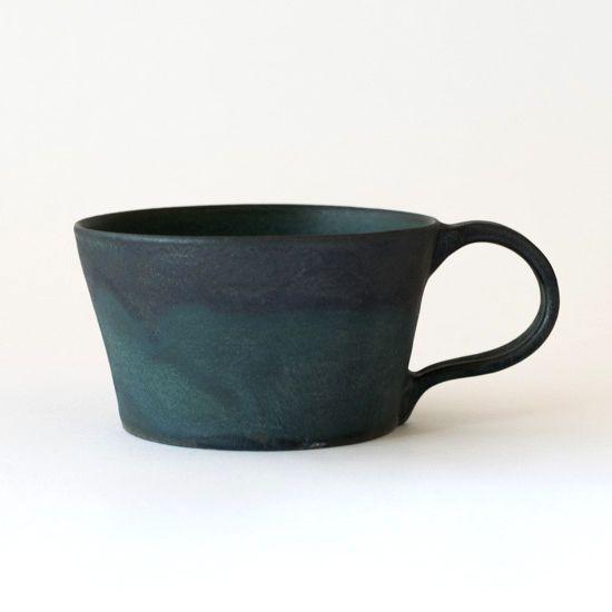 平野日奈子 コバルト釉スープマグ - VIVAHDE(ヴィヴァフデ)   ニュアンスのある器と雑貨の通販