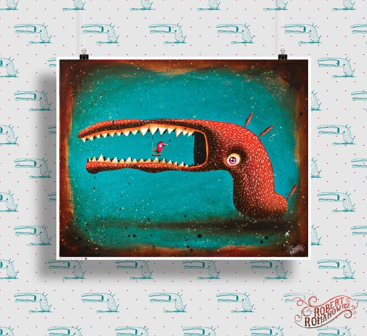 Poster for sale *monstruo - painting* High quality print on semi-gloss paper 200g/m2. Size: 90x72 cm. Signed on the back. contact: romanowiczrobert@yahoo.com http://pantonedesign.blogspot.com/2014/03/dostepne-plakaty.html