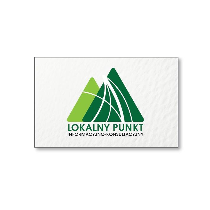 Logotyp lokalnych punktów informacyjnych, zrealizowany dla Powiatowego Urzędu Pracy w Żywcu