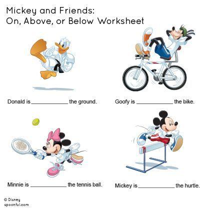 ミッキーと仲間たち:上、上、またはワークシートの下|ディズニーファミリー