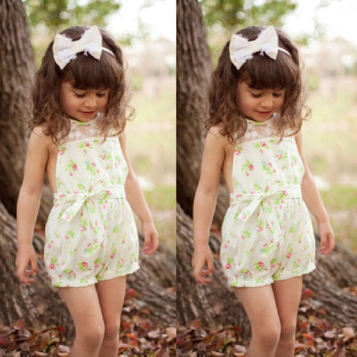 >> Click to Buy << 2016 Summer Girls Kids Princess Party Lace Floral Romper Playsuit Jumpsuit 2-7Y #Affiliate