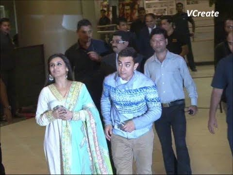 aamir khan and rani mukherjee at the screening of talaash.