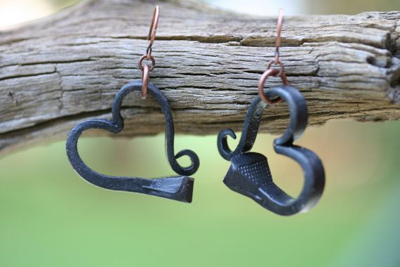 Hey, I found this really awesome Etsy listing at https://www.etsy.com/listing/201071309/iron-earrings-horse-shoe-nail-earrings