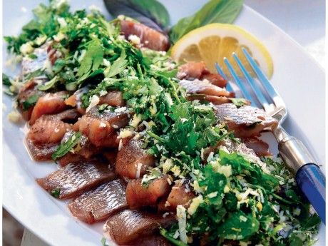 Pickled herring with gremolata